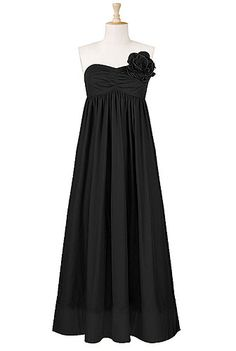 Strapless rosette pin maxi dress --- This site has every dress in every size customizable from arm length to sleeve type on every single dress and you give them your measurements and height... really really cute stuff! my new fav site!