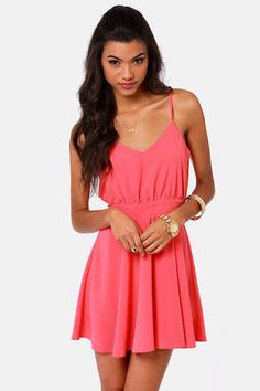 #Lulus                    #love                     #Lucy #Love #Penelope #Coral #Pink #Dress           Lucy Love Penelope Coral Pink Dress                                           http://www.seapai.com/product.aspx?PID=1816595