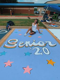 Fashion and Lifestyle Senior Year Pictures, Graduation Pictures, Senior Photos, High School Life, High School Musical, High School Seniors, Parking Spot Painting, School Goals, Sidewalk Chalk Art