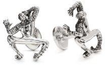 """Marvel"" Sterling Silver Crawl Spider-Man Cufflinks http://astore.amazon.com/ahoy-20/detail/B005O2539W"