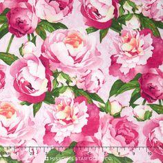 Peony Passion - Peony Pink Yardage