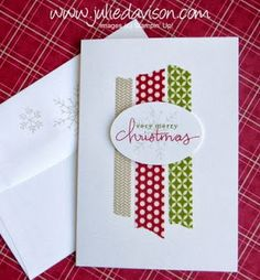 Clean and Simple Notecard with Stampin' Up! Season of Style Washi Tape and…