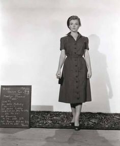 Marilyn in a wardrobe test for Nell in 'Don't Bother To Knock.