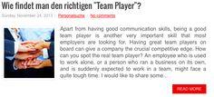 """Wie findet man den richtigen """"Team Player""""? Mehr dazu:"""