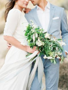 Incredibly lush bouquet: http://www.stylemepretty.com/2015/01/08/four-elements-wedding-inspiration/ | Photography: Ashley Bosnick - http://ashleybosnick.com/