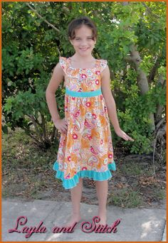 Ruffle Neck Dress Pattern  Sewing Tutorial and by tiedyediva, $7.95