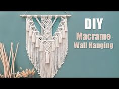 Macrame Knots, Diy Tutorial, Bohemian Style, Craft Ideas, Ceiling Lights, Wall, Youtube, How To Make, Crafts