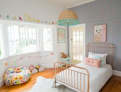 MODERN BURLAP LOVES! An Adorable Eclectic Bedroom for a Little Girl - Inspired by This