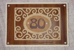 Karte zum 80. Geburtstag in Brauntönen mit Holzoptik