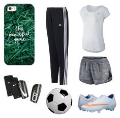 Soccer practice by nasoccer on Polyvore featuring polyvore, мода, style, adidas, NIKE, Casetify, fashion and clothing