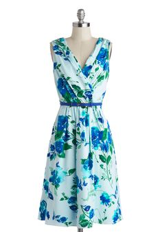 Beautiful Blueprints Dress, #ModCloth