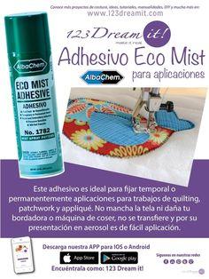 Facilita tu trabajo con este adhesivo ideal para tus proyectos de bordado, costura y manualidades...¿Ya lo conocías?