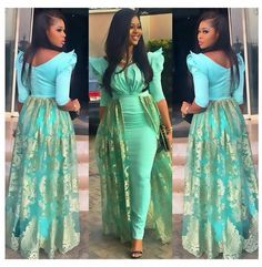 Sexy African Mermaid Evening Dresses 2017 abendkleid Mint Green Long Party Gowns Plus Size Dinner Dresses Maxi vestido de noche African Print Dresses, African Fashion Dresses, African Dress, African Prints, Ghanaian Fashion, African Fabric, Fashion Outfits, African Attire, African Wear
