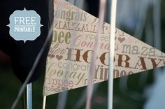 Celebratory Flags | {Wedding DIY} | The Pretty Blog