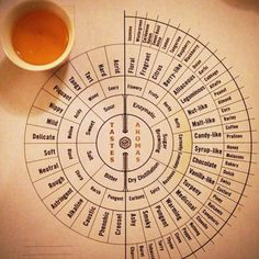 tastes and aromas wheel - a great cheat sheet!