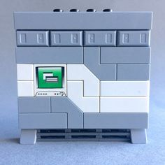 Lego Modular Diorama 2017 New Pieces - wallpanel with computer   by Paul B. Hartzog