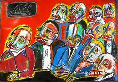 The Feast, with defrosting turkey - Matt Sesow - Artevistas Gallery Barcelona