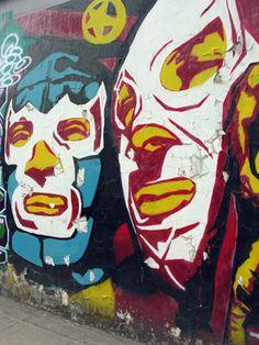 Arte del Santo y Blue Demon. Más mexicano, imposible.
