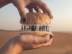"The secret ingredient for this meetup in Dubai? Teamwork. ""Every single person brings their own flavor to the table, so when we all work together as a team our results are successful — exactly like a burger with all its ingredients,"" says Ahmad Al Rais (@aalrais), who captured this picture in the sand dunes following a trip to the @albaital_qadeem restaurant.  Follow along as we feature more of our favorite moments from #WWIM14🍴 this week.  Photo by @aalrais"