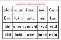 1. Grup sesler ELAKİN kelime tombalası (100 kelime) Çiğdem öğretmen
