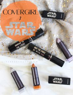 CoverGirl Star Wars Lipstick Swatches + Mascara Review   Slashed Beauty