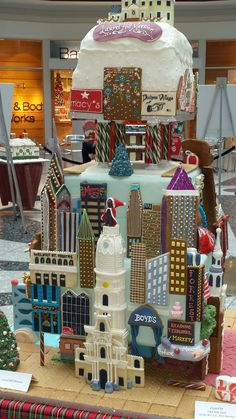 Philadelphia skyline gingerbread house