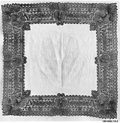 Handkerchief | French, Chantilly | The Met19th century Culture:French, Chantilly Medium:Bobbin lace
