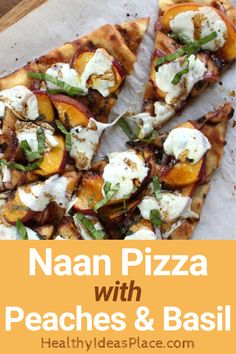 Recipes With Naan Bread, Healthy Pizza Recipes, Vegetarian Meals, Appetizer Recipes, Healthy Food, Dinner Recipes, Cooking Recipes, Yummy Food