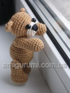 Knit crochet baby bear-    Для новичков For beginners