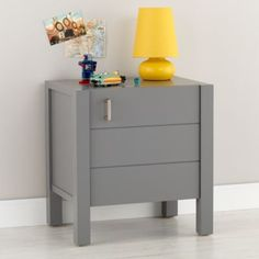 So cool! Perfect for colie's grey & orange room #modern