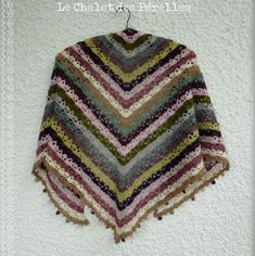MES FAVORIS TRICOT-CROCHET: Modèle châle au crochet gratuit : Le South Bay Shawlette
