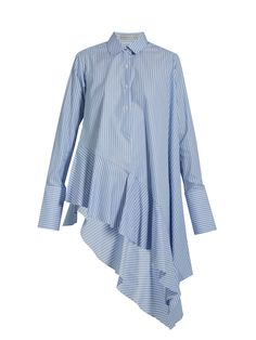 Asymmetric ruffled-hem cotton shirt | Palmer//harding | MATCHESFASHION.COM