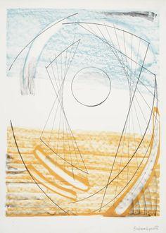 'PORTHMEOR' (1969) | Dame Barbara Hepworth: Lithograph on paper     ✫ღ⊰n