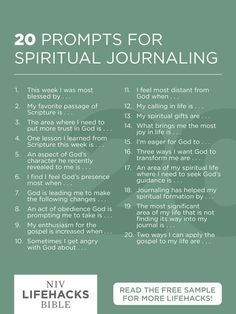 20 prompts for spiritual journaling