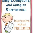 Sentences Interactive Notebook Freebie This freebie includes interactive notes that can be used to teach simple, compound, and complex sentences. I always start the year with this lesson because it sets the foundation for writing! Writing Resources, Teaching Writing, Writing Activities, Teaching Resources, Writing Ideas, Teaching English, Teaching Ideas, Teaching Grammar, Education English