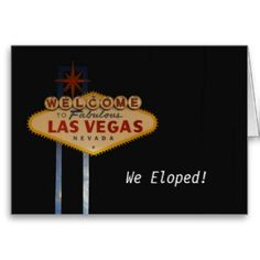 Vegasdusoleil: Gifts: ELOPED!: Zazzle.com Store