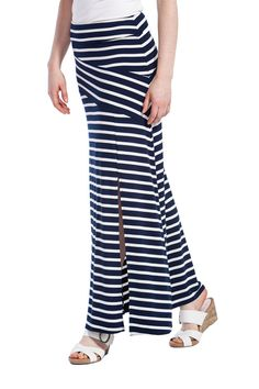 Carly Skirt in 2 Coloured Stripes