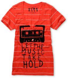 Glamour Kills Let It Take Hold Red V-Neck Tee Shirt