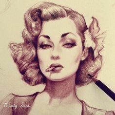 Luxus Pin-up-Porträt von Maly Siri!