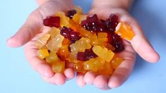Here's a healthy gummy bear recipe that uses just fruit, honey, gelatin, and love. A tasty take on the classic (but kinda junky) kid's candy. Energy Smoothies, Fruit Smoothies, Recipes Using Fruit, Candy Recipes, Champagne Gummy Bears, Dressing For Fruit Salad, Beef Gelatin, Fruit Packaging, Best Fruits