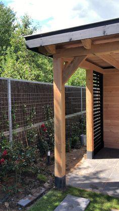 Douglas overkapping met zwarte lamellen/zink/schommel/afm 3,3 bij4,5 Pergola Designs, Patio Design, Backyard Patio, Backyard Landscaping, Patio Decorating Ideas On A Budget, Porch Decorating, Patio Ideas, Outdoor Garden Decor, Back Gardens