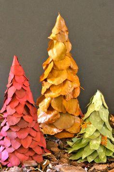 Handmade Christmas Tree from leaves