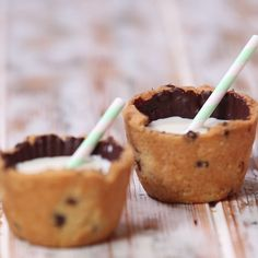 Milk in a cookie cup?! What kind of sorcery is this?!