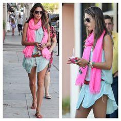 Alessandra Ambrósio - simple Pink