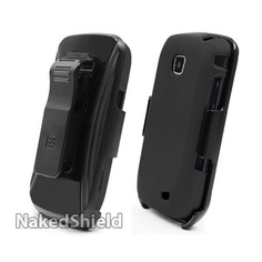 Samsung i110 Galaxy Proclaim Black Cover Case + KickStand Belt Clip Holster + Naked Shield Screen Protector | Mobile Phone Reviews|Buy Mobile Phones Online