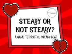 Looking for a quick and easy way to assess whether students understand steady vs. not steady beat? Try this FREEBIE! Kindergarten Music, Kindergarten Lessons, Drum Lessons, Music Lessons, Middle School Music, Music Beats, Music Lesson Plans, Music Activities, Music Games