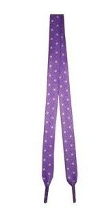 "Foot Galaxy 45"" Purple with White Dot Printed Shoe Laces Foot Galaxy. Save 50 Off!. $2.49"