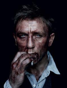 Bond is decadence. Daniel Craig as James Bond after mixing it up a bit (by Jean Baptiste Mondino). Daniel Craig James Bond, Craig 007, Craig Bond, Photo Star, Poses Photo, Photo Shoot, Celebrity Portraits, Famous Faces, Belle Photo