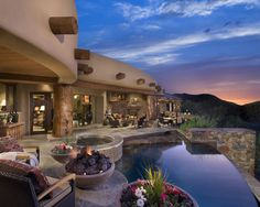 66 best santa fe homes images on Pinterest | Haciendas, Backyard ...
