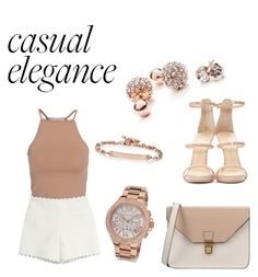 """""""Esmirie casual"""" by lisamarieweideman on Polyvore featuring NLY Trend, Moschino Cheap & Chic, Giuseppe Zanotti, GUESS, Hoorsenbuhs, Michael Kors, 8, women's clothing, women and female"""